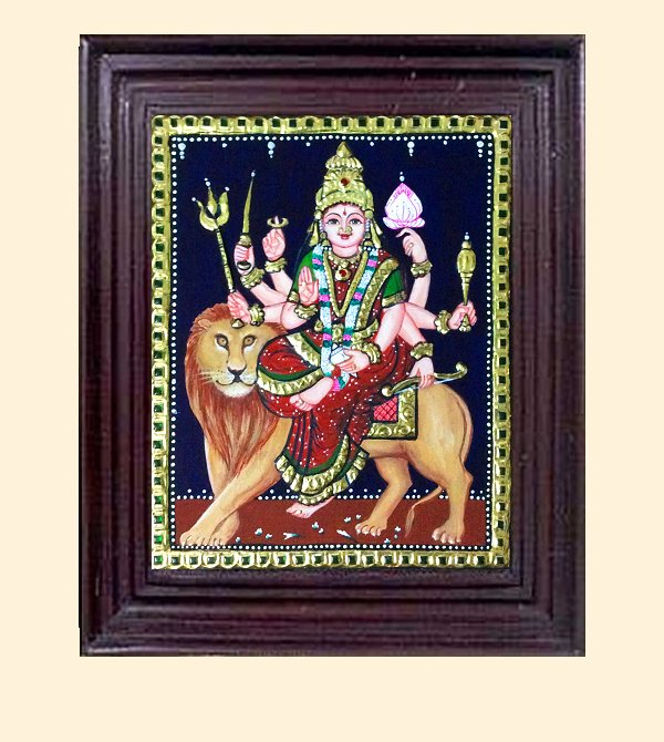 Durga1 - 13x11 in with frame