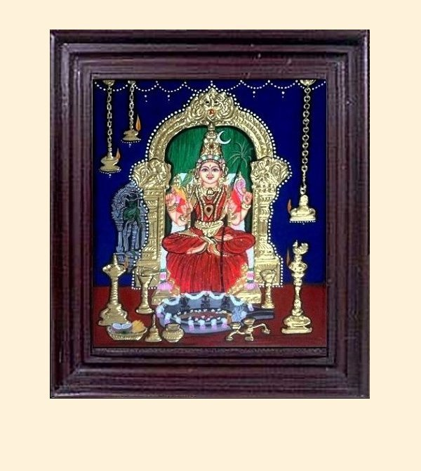 Kamakshi Amman 1 - 16x14in with frame