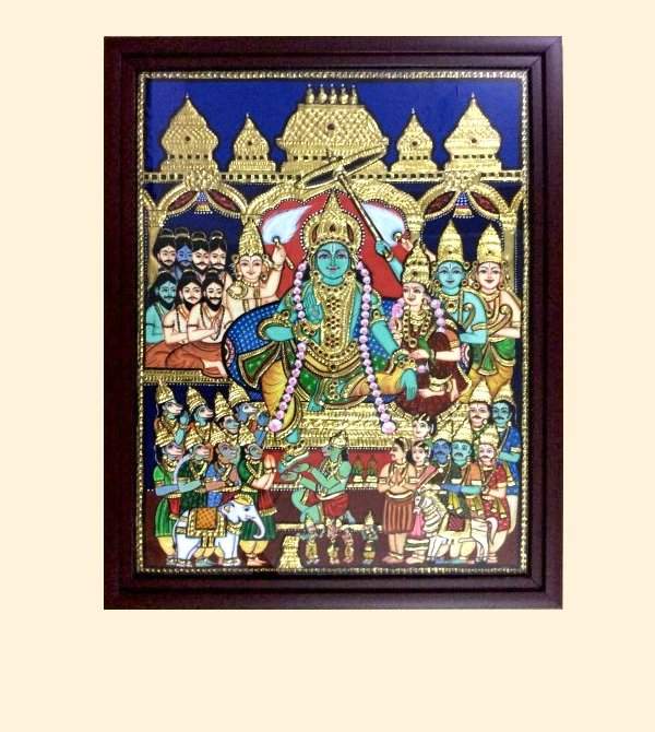 Ramar Pattabishekam 1- 21x17in with frame