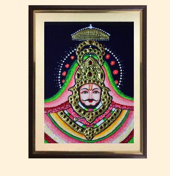 Shyam Baba 1 - 13x11 in with frame